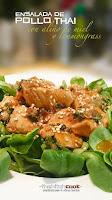 Ensalada de pollo thai con aliño de miel y lemmongrass