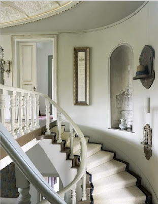 the staircase of a yali in the bosphorus restored in a global chic style via belle vivir blog