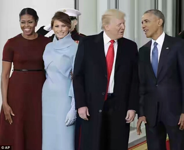 Inauguration: Obamas receive the Trumps at White House (Video, photos)