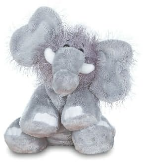 Plush, fuzzy, stuffed gray Webkinz brand toy elephant