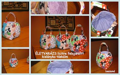 Gyöngyvéréknek felajánlott kislányka táskák aebd0b6176