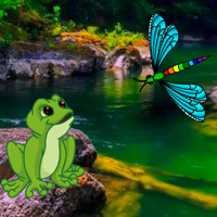 Play BigEscapeGames Big Dragonfly Land Escape
