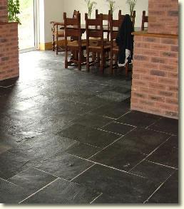 Photos Black Slate Floor Tiles