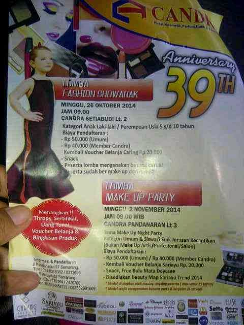 Lomba Fashion Show Anak dan Make Up Oktober 2014