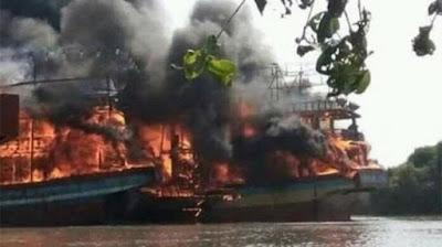 Kebakaran hanguskan belasan kapal nelayan
