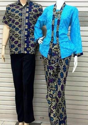 Desain Kebaya Batik Model Muslim Couple