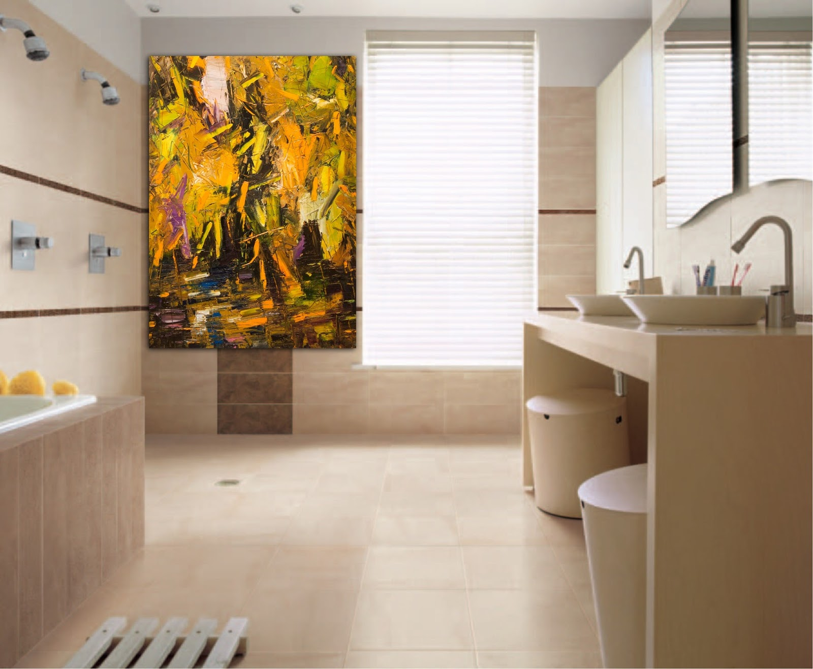Vasca Da Bagno Su Misura : Arte su misura valorizzare la stanza da bagno con arte su misura
