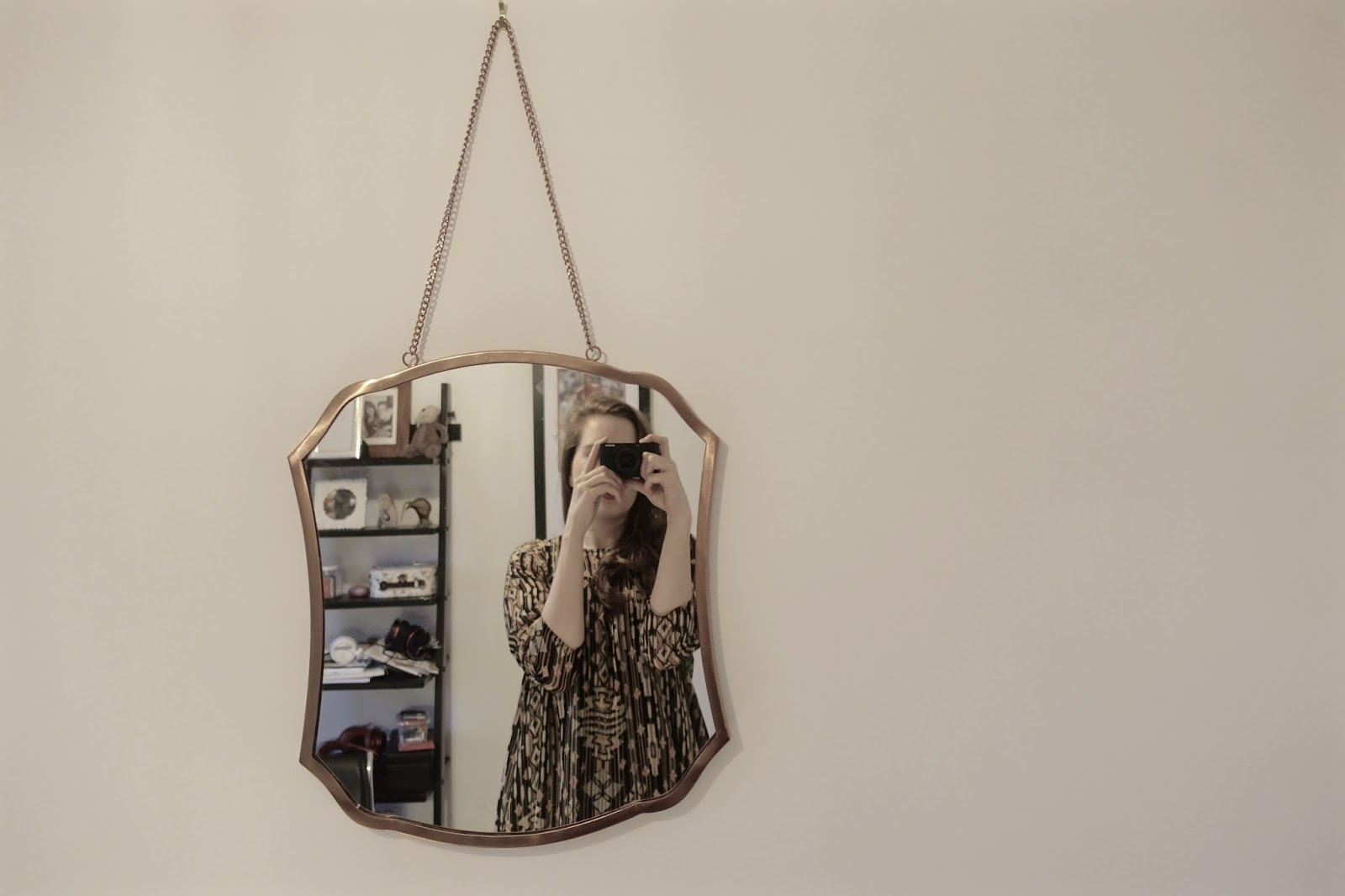 modern mirror wall art copper