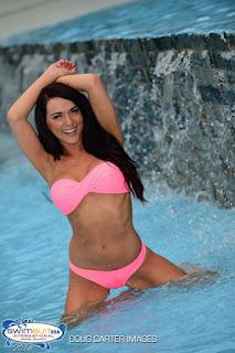 Shawna Lee in a pink Bikini