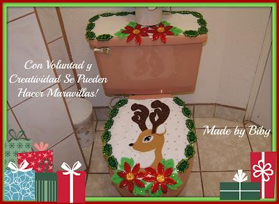 Hoy les comparto el tutorial de este bonito juego de baño navideño ...
