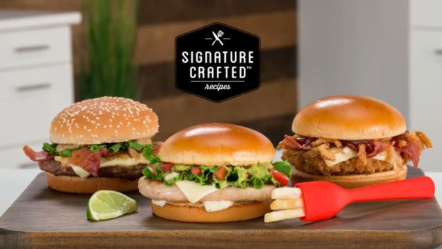 Signature Crafted Sandwiches At Mcdonald S