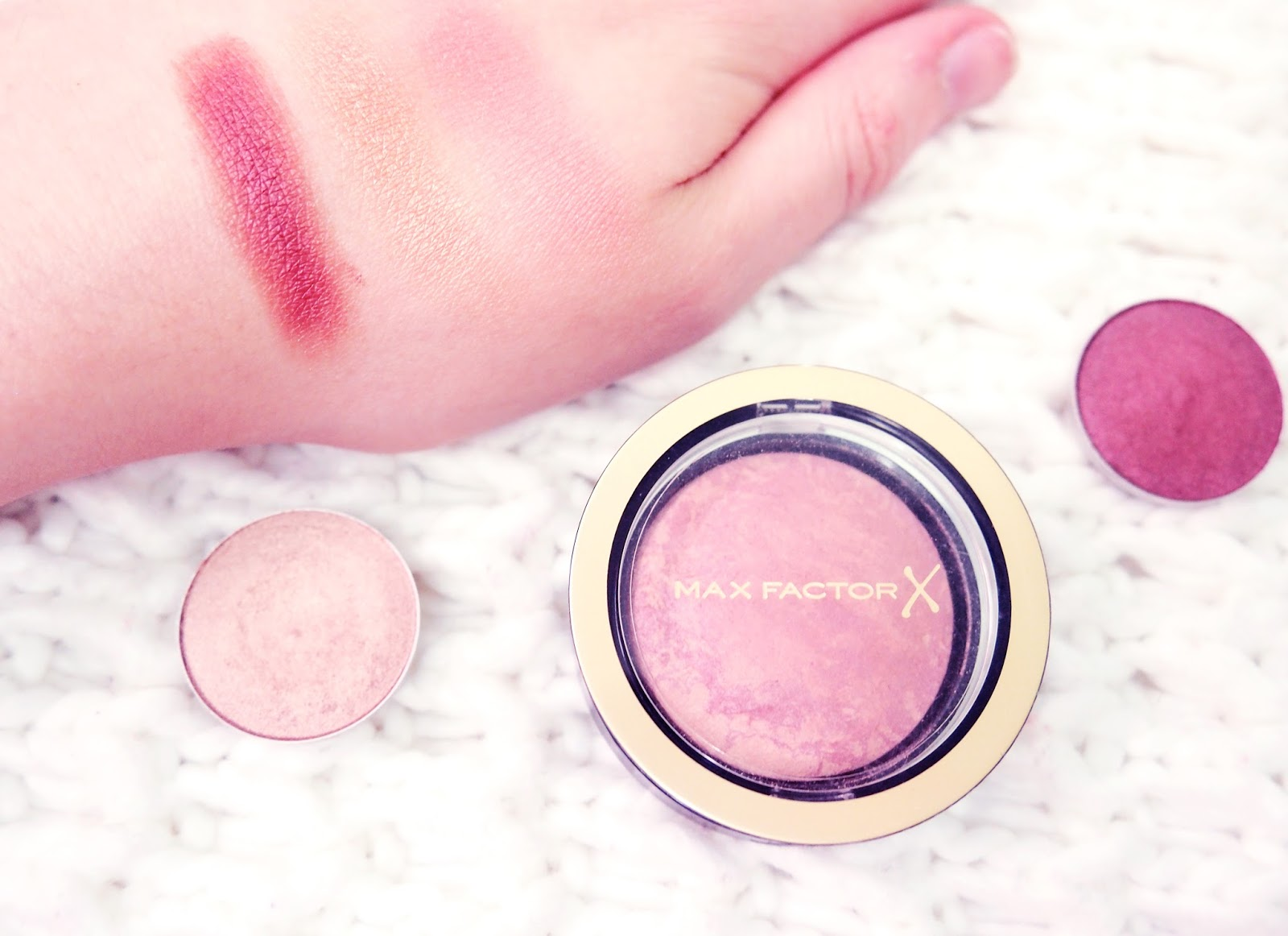 October Beauty Favourites Max Factor Creme Puff Blush MAC Swatches