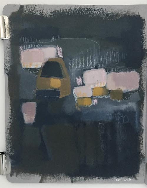 art journal entry - dark - Feb-1-2019
