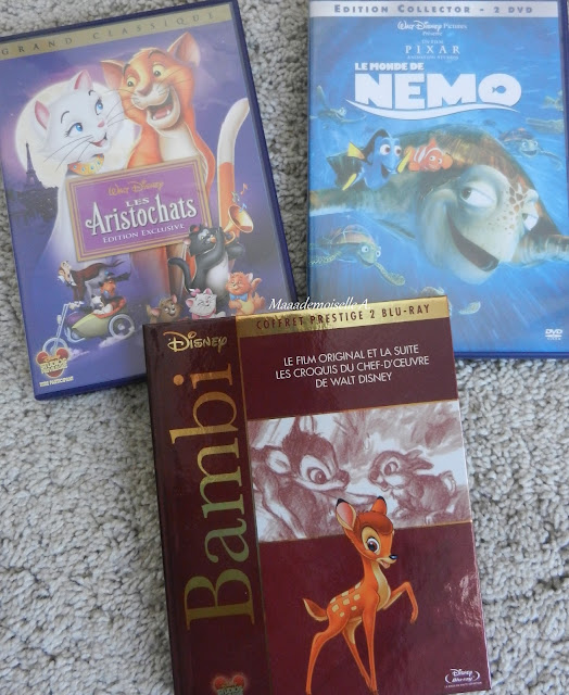 DVD Blu-Ray Disney Les Aristochats, Némo et Bambi