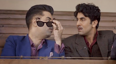 Karan Johar as Kaizad Khambata, Ranbir Kapoor as Johnny Balraj, in Bombay Velvet, Directed by Anurag Kashyap
