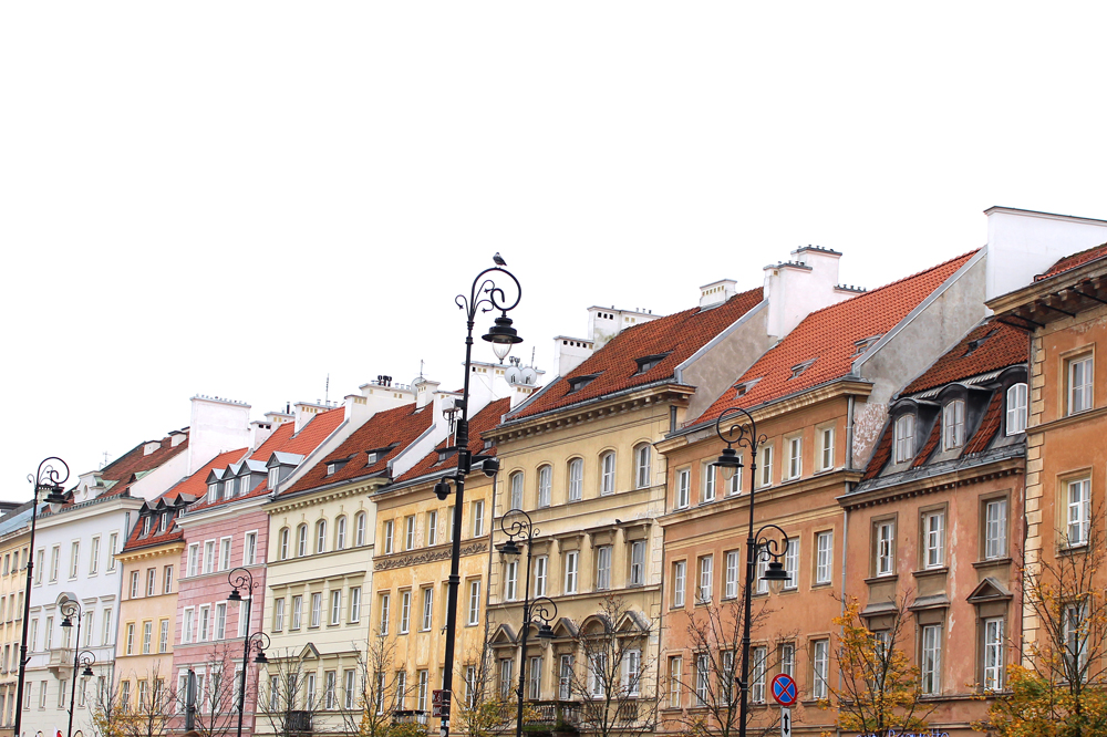 Pretty street in Warsaw Old Town - luxury travel blog