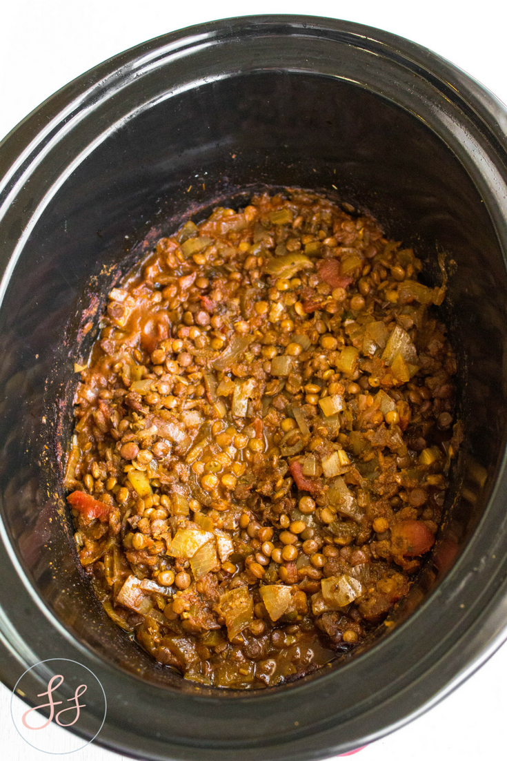 #GlutenFree + #Vegan Crock Pot Lentil Tacos