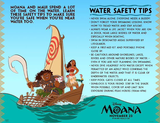 Disneys Moana Coloring Pages And Activity Sheets Water Safety Tips