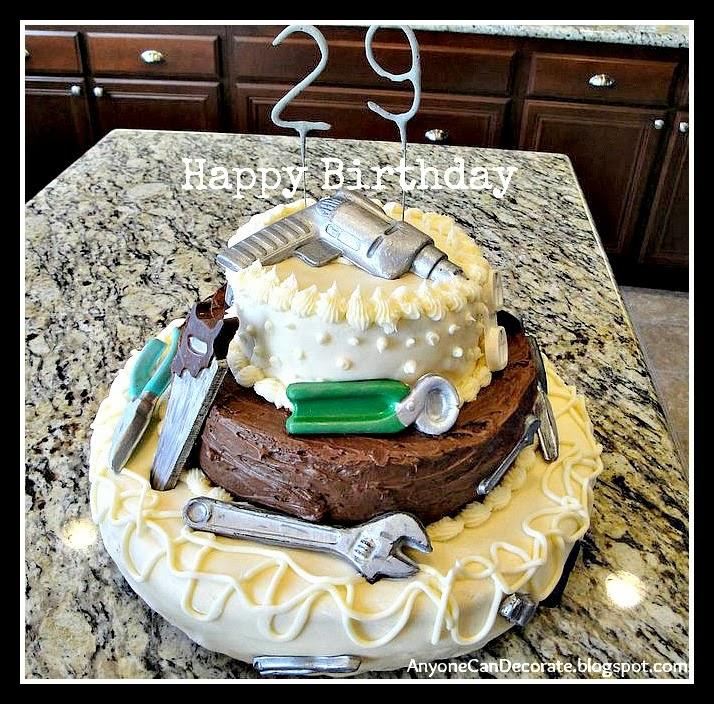 Anyone Can Decorate DIY Birthday Cake