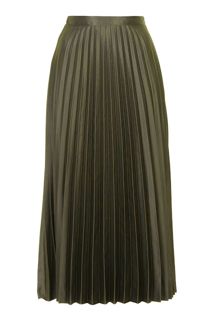 olive green skirt, topshop green pleated skirt, green pleated midi skirt,