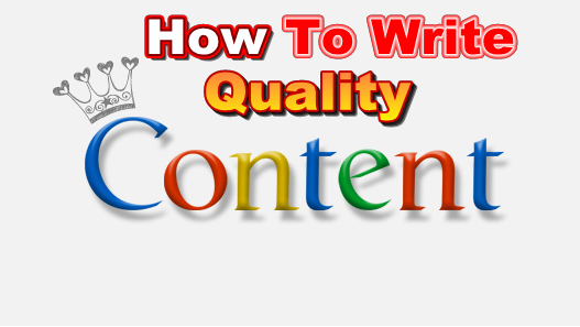 How to Write Quality Content