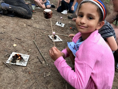 Goodwood Home Farm toasting marshmallows in the forest