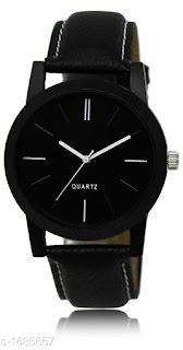 Elegant Fashionable Men's Leatherette Analog Watches