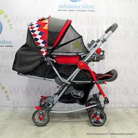 Kereta Bayi Pliko PK268R Grande Rocker - Hadap Depan atau Belakang - Red