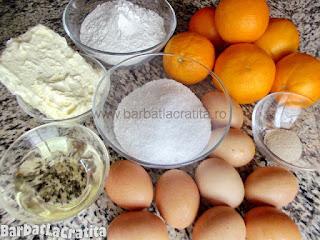 Prajitura cu portocale ingrediente reteta