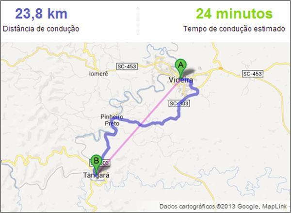mapa de portugal distancias entre cidades Função: Calcular distância entre locais   Excel | Excelmax  mapa de portugal distancias entre cidades