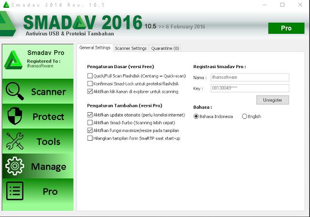 Download Smadav Pro Rev 10.6 Full Free Serial Number Terbaru 2016 Gratis