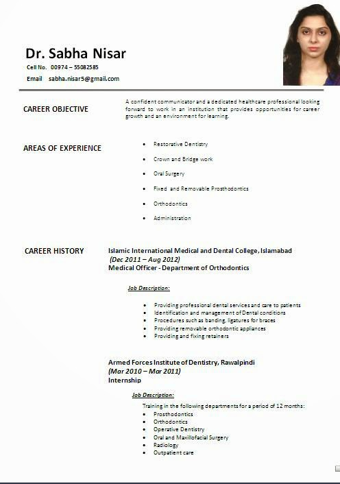 most effective resume format resume format