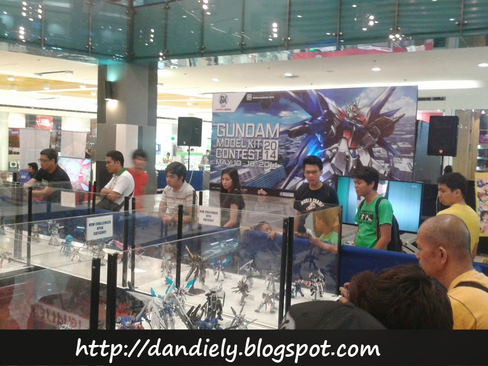 Gundam Model Kit Contest 2014 Philippines Exhibit Area in front of Event Stage