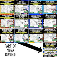 Physical Science Interactive Guided Notes and PowerPoints NGSS, Next Generation Science Standards, Google and Print  ➤Science Guided Notes, Interactive Notebook, Note Taking, PowerPoints, Anticipatory Guides, Google Classroom Link, Digital Learning