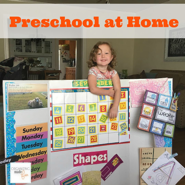 How to have preschool at home and get organized :: OrganizingMadeFun.com