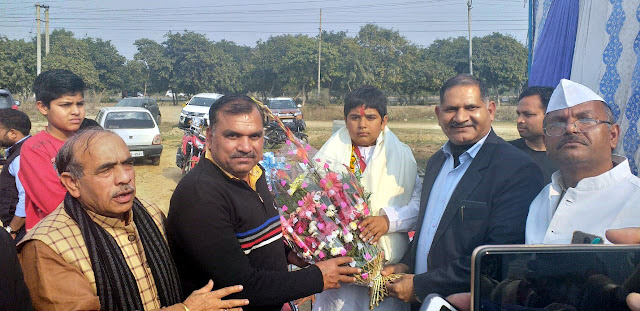 Ankit, who won the Silver Medal in the National Judo Competition, arrived on a grand reception