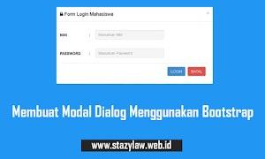 Membuat Modal Dialog dengan Bootstrap