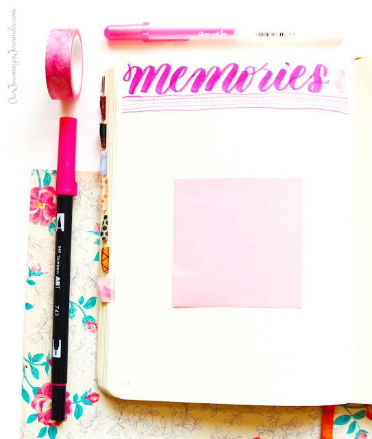 blank monthly memories spread
