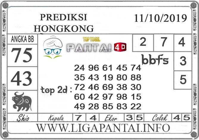 """PREDIKSI TOGEL """"HONGKONG"""" PANTAI4D 11 OKTOBER 2019"""