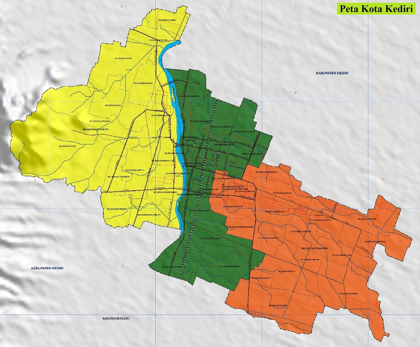 Peta Kota Kediri