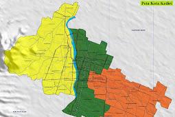 Peta Kota Kediri Gambar HD Lengkap dan Keterangannya