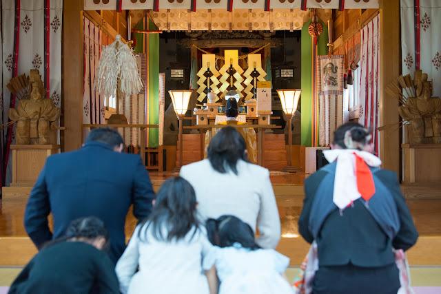 八尾町杉原神社お宮参り