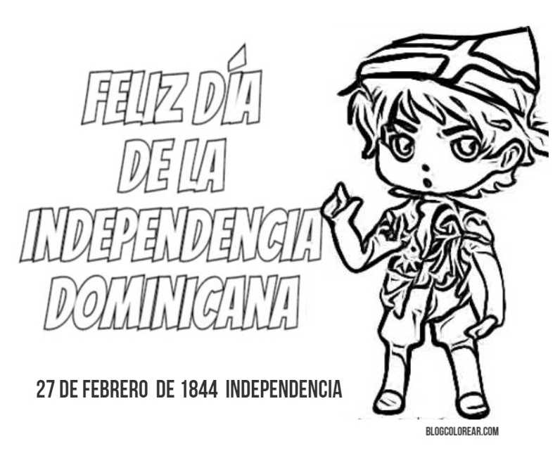 Independencia Rep. Dominicana dibujos para colorear | Colorear ...
