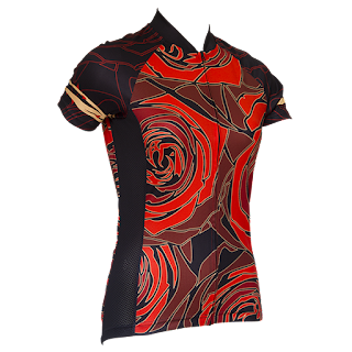 Red Rose Cycling Jersey Unique