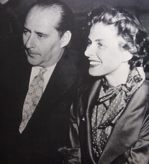 Photo of Rossellini and Ingrid Bergmann