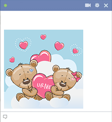Teddy Bears in Clouds Icon