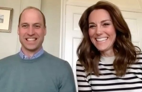 Kate Middleton wore Arket merino mariniere jumper, knitted in RWS merino. Prince George, Prince Louis and Princess Charlotte