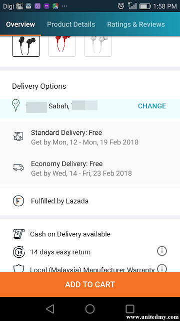 Lazada cash on delivery