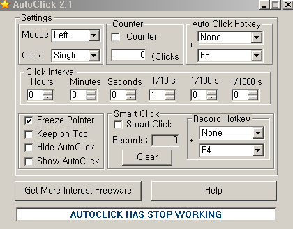 take easy] Autoclick 2 1 Download and manual
