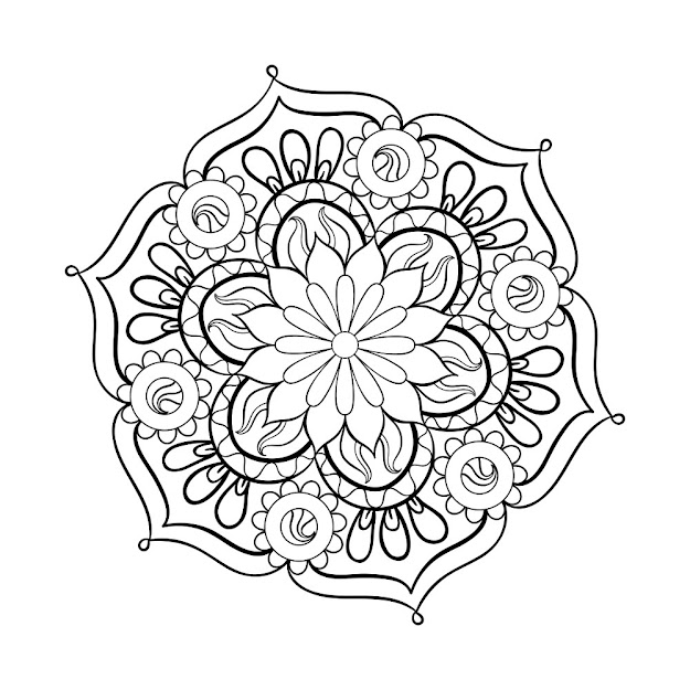 Mandala Adult Coloring Page  Thumbnail Mandala Adult Coloring Pages